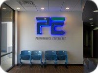 Performance Experience Interior LED Lighted Reverse Channel Letters