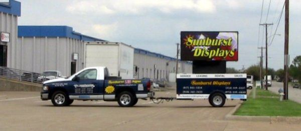 The LED Sled Portable LED Message Center Trailer
