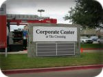 Corporate Center at The Crossing stone multi-tenant monument sign
