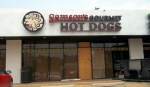 Samsons Gourmet Hot Dogs lighted channel letters