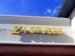 Z+ Studio lighted after install by Signs Manufacturing, Dallas, TX