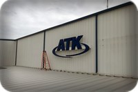 ATK Channel Letters on Aircraft Hangar Texas