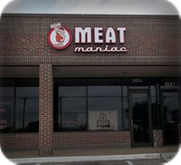 Meat Maniac Raceway Mounted Channel Letter Sign