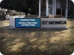 Saint Monica LED Monument Sign